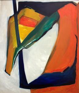 schilderij Alexandra Verkerk, olieverf op linnen, 1986