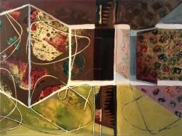Alexandra Verkerk, painting meanwhile at the neighbours, 2019, 80x60