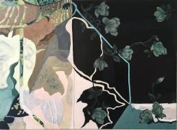 olieverf op linnen en zijde 80x60 2020, Alexandra Verkerk